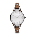 Ladies Georgia Leather Watch Brown Product Image