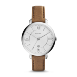 Fossil Women's Jacqueline Brown Leather Watch Product Image