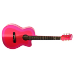 3/4 Rockwood Acoustic Guitar Pink Product Image