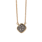 "Sea La Vie 18"" Druzy Necklace Dream Platinum Product Image"