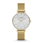 Womens Anita Gold-Tone Stainless Steel Watch Mesh Bracelet Product Image