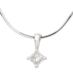 White Gold .25ct Diamond Necklace Product Image