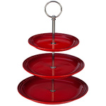 3-Tier Stoneware Stand Cerise Product Image
