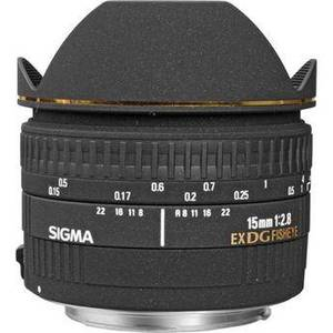 15mm f/2.8 EX DG Diagonal Fisheye Lens for Canon EF Product Image