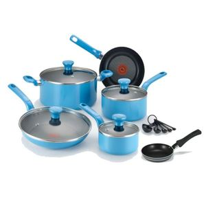 Excite Non-Stick 14-Piece Cookware Set plus Specialty Non-Stick One-Egg Wonder Package - Blue Product Image