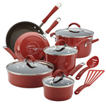 Cucina 12pc Porcelain Cookware Set Cranberry Red Product Image