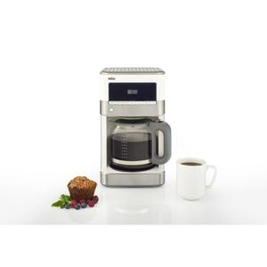 Brewsense 12-Cup Drip Coffee Maker - Stainless Steel/White Product Image