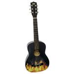 "30""Acoustic Guitar Black w/Flames Product Image"