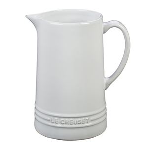 1.6qt Stoneware Pitcher White Product Image
