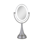 Zadro Cordless Dual-Sided LED Lighted Oval Vanity Mirror 1X/10X Product Image