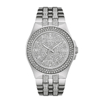 Mens Silver-Tone Crystal Watch Crystal Dial Product Image