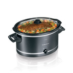 8 Quart Slow Cooker Black/Silver Product Image