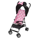 Pink Minnie DLX Umbrella Stroller w/ 3D Canopy & Basket Product Image