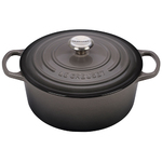 5.5qt Signature Cast Iron Round Dutch Oven Oyster Product Image