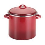 12qt Enamel on Steel Stockpot w/ Lid Red Gradient Product Image