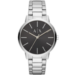 Mens Cayde Silver-Tone Stainless Steel Watch Black Dial Product Image