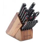 18pc Gourmet Promo Knife Block Set Acacia Product Image