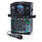 LED Disco Light and Bluetooth Karaoke Machine Black Product Image