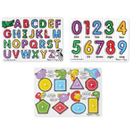 Peg Puzzle Bundle - Alphabet/Numbers/Shapes Ages 3+ Years Product Image