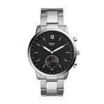 Mens Q Neutra Hybrid Smartwatch Silver-Tone Bracelet Black Dial Product Image