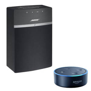 SoundTouch 10 Wireless Music System and Amazon Echo Dot B&H Kit (Black)