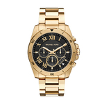 Mens Brecken Gold-Tone Watch Black Dial Product Image