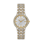 Ladies Eco-Drive Silhouette Crystal Watch Two-Tone Dial Product Image