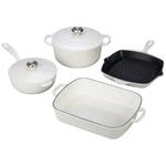 6pc Signature Cast Iron Cookware Set White Product Image