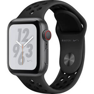 Watch Nike+ Series 4 (GPS + Cellular, 40mm, Space Gray Aluminum, Anthracite/Black Nike Sport Band) Product Image