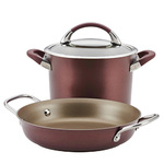 3pc Symmetry Hard Anodized Cookware Set Merlot Product Image
