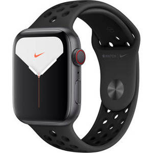 Watch Series 5 (Nike+/GPS + Cell, 44mm, Space Gray Aluminum, Anthracite/Black Nike Sport Band) Product Image