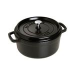 Cast Iron 4qt Round Cocotte Black Matte Product Image
