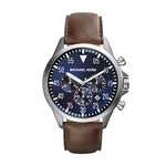 Mens Gage Brown Leather Strap Chronograph Watch Product Image
