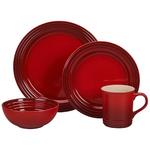 16pc Stoneware Dinnerware Set Cerise Product Image