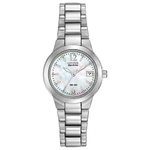 Ladies Chandler Eco-Drive Silver-Tone Watch Mother-of-Pearl Product Image