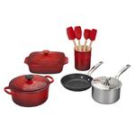 12pc Deluxe Kitchen Set Cerise Product Image