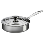 3qt Stainless Steel Saute Pan with Lid Product Image