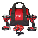 M18 Compact Brushless Drill/Driver & Impact Driver Kit Product Image