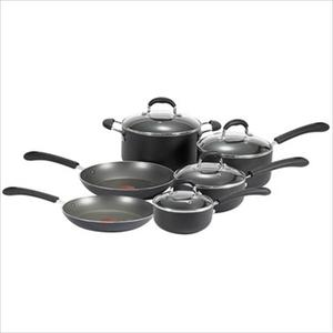 Professional Total Non-Stick 10-Piece Cookware Set - Black Product Image