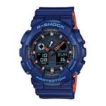 Mens G-Shock Ana-Digi Blue & Orange Watch Black Dial Product Image