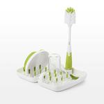 Tot On-the-Go Drying Rack w/ Bottle Brush Green Product Image
