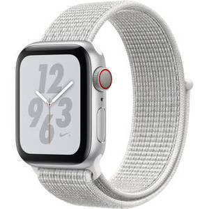 Watch Nike+ Series 4 (GPS + Cellular, 40mm, Silver Aluminum, Summit White Nike Sport Loop) Product Image