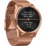 vivomove Luxe Hybrid Smartwatch (42mm, 18K Rose Gold PVD Stainless Steel Case, Milanese Band) Product Image