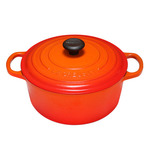 5.5qt Signature Cast Iron Round Dutch Oven Flame Product Image
