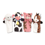 Farm Friends Hand Puppets Ages 2-6 Years