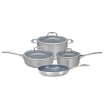 7pc Stainless Steel Ceramic Nonstick Cookware Set Product Image