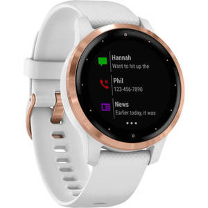 vivoactive 4S Smartwatch (40mm, Rose Gold Stainless Steel Bezel/White Case, Silicone Band) Product Image