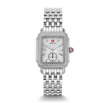 Ladies Deco 16 Silver-Tone Diamond Watch Mother of Pearl Dial Product Image