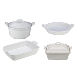 6pc Heritage Stoneware Cookware Set White Product Image