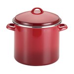 12qt Enamel on Steel Stockpot w/ Lid Red Gradient Product Image